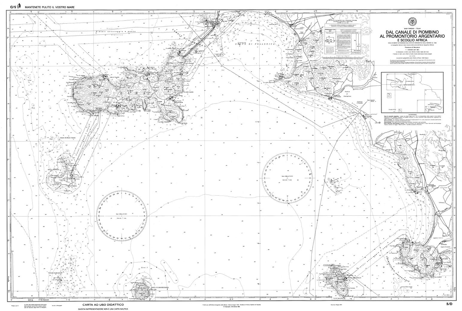 Cartina 5d.Carta Nautica 5d Essebi Italia