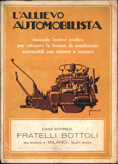 L'allievo automobilista - Casa editrice Fratelli Bottoli