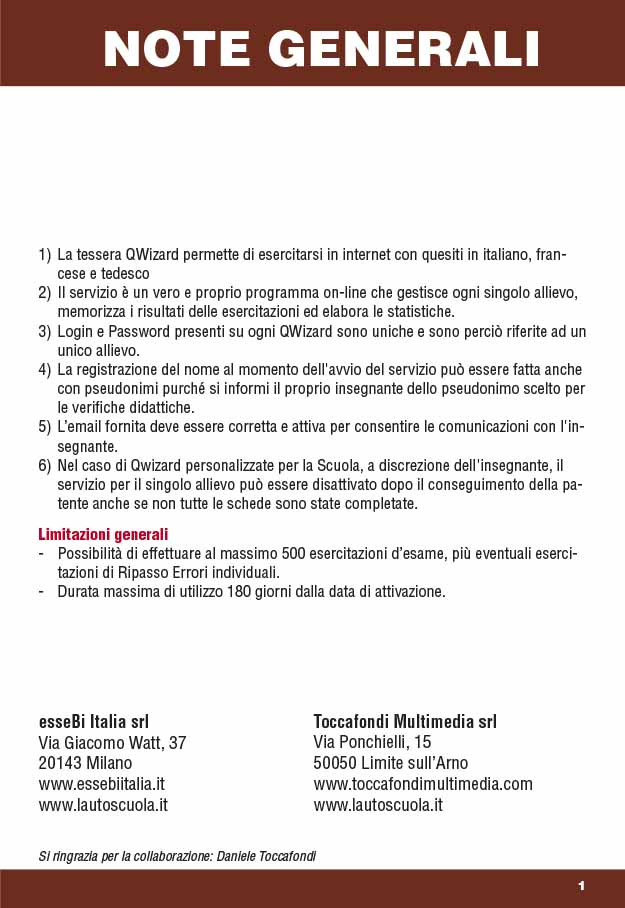 Libretto Card Revisioni 2