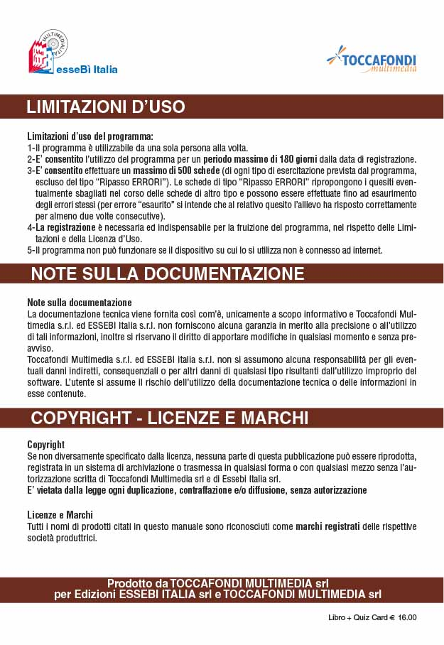 Libretto Card Revisioni 8